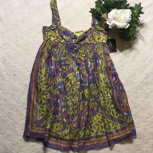🆕NWT Nicole Miller Silk Mini Sundress, 8